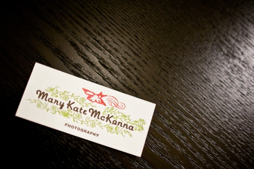 Mary Kate's New Busines Card