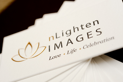 nLighten Images Letterpress Cards