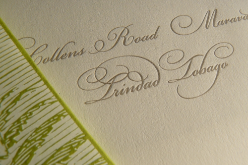 Letterpress Indentation
