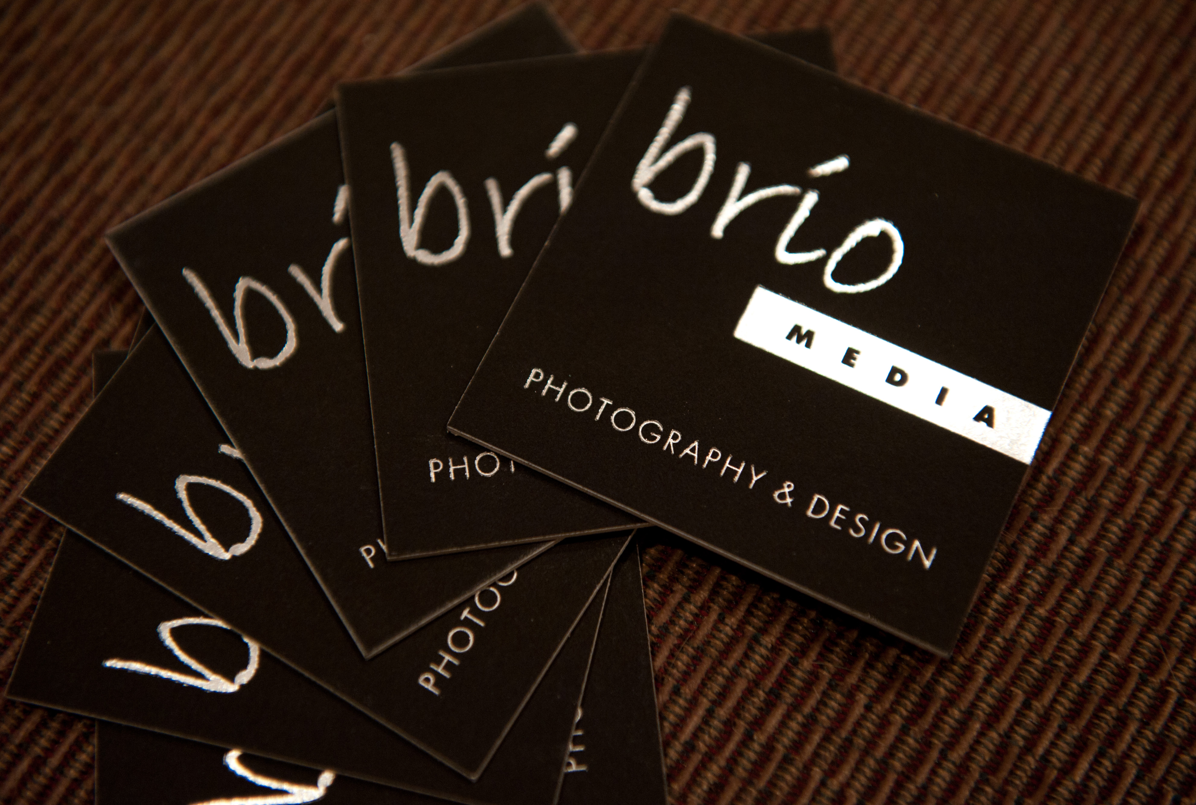 black business cards with foil stamping studio z mendocino