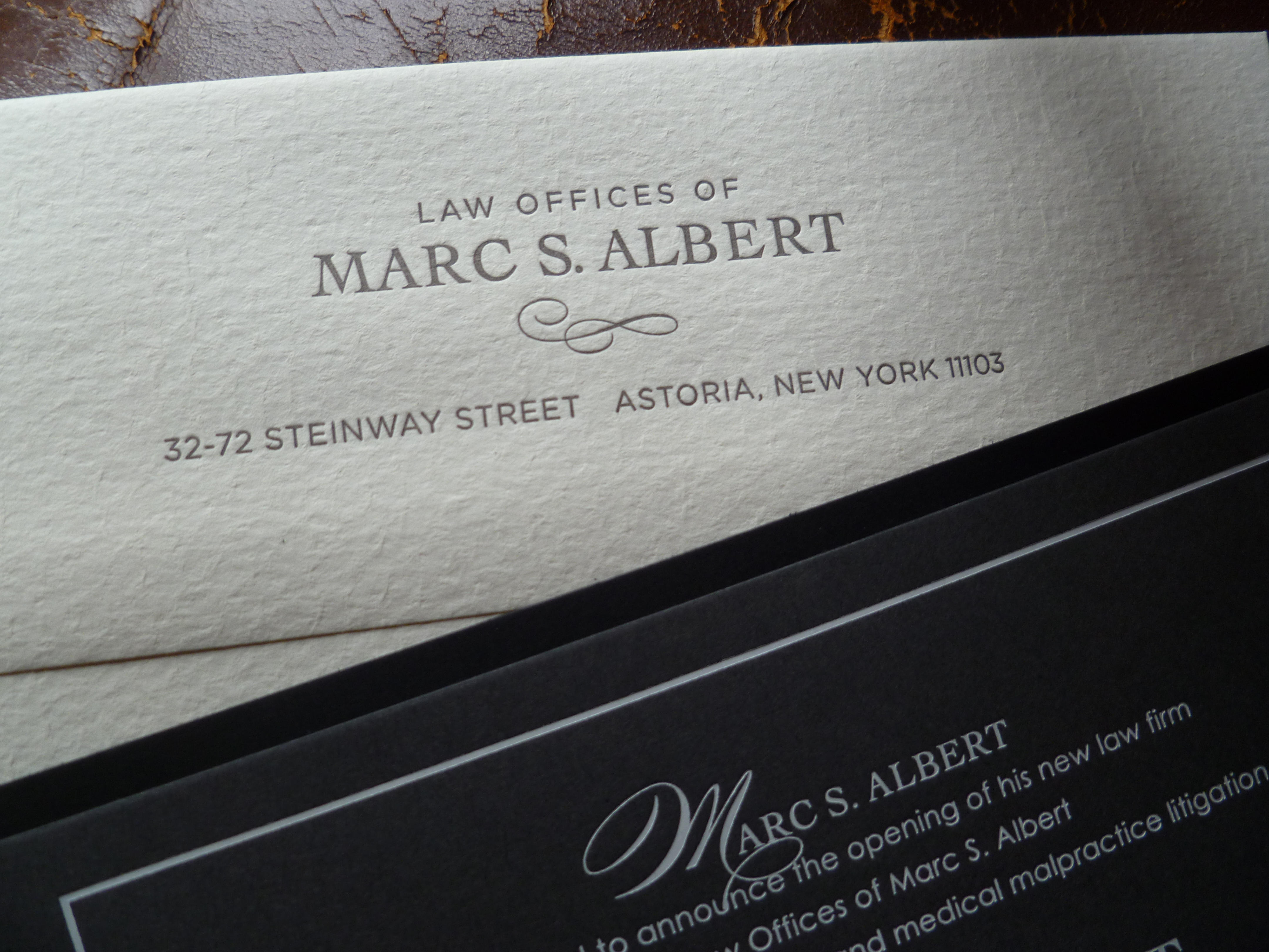 law firm graphic design stationery